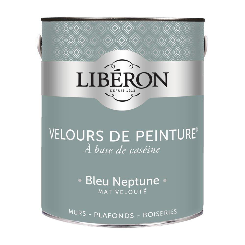Peinture murale Velours de peinture Liberon 2,5L-couleur Bleu Neptune-1000
