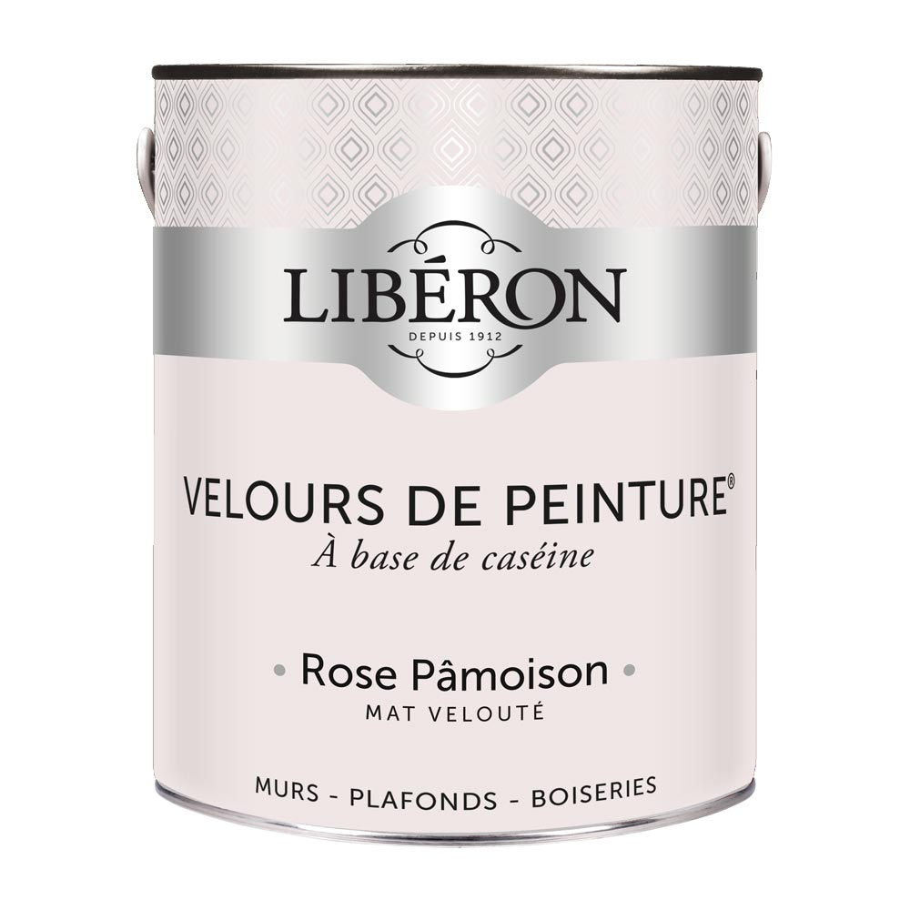 Peinture murale Velours de peinture Liberon 2,5L-couleur Rose Pamoison-1000
