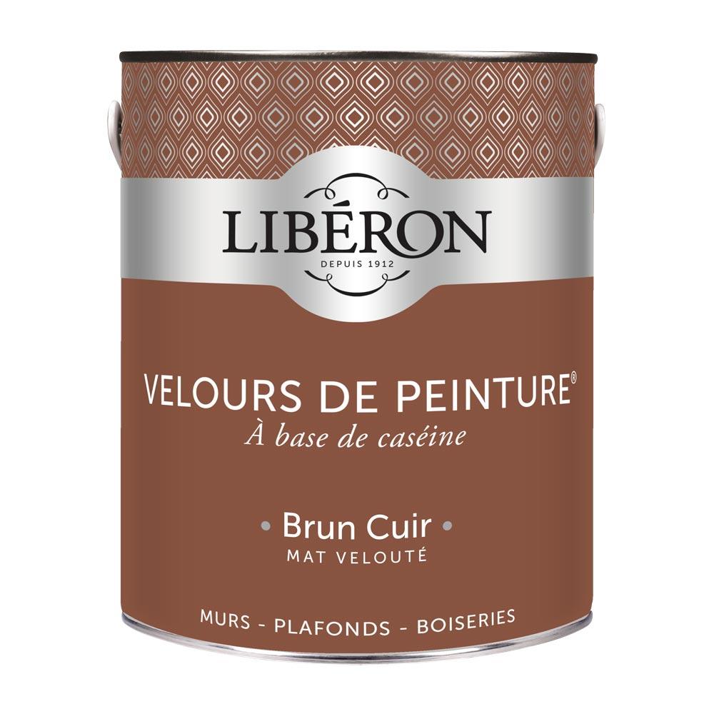 Peinture murale Velours de peinture Liberon 2,5L-couleur Brun Cuir-1000