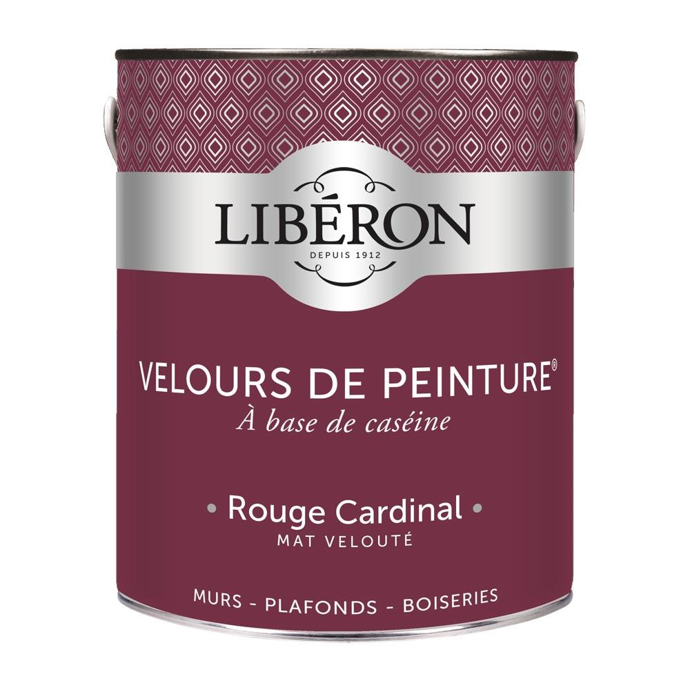 Peinture murale Velours de peinture Liberon 2,5L-couleur Rouge Cardinal-1000