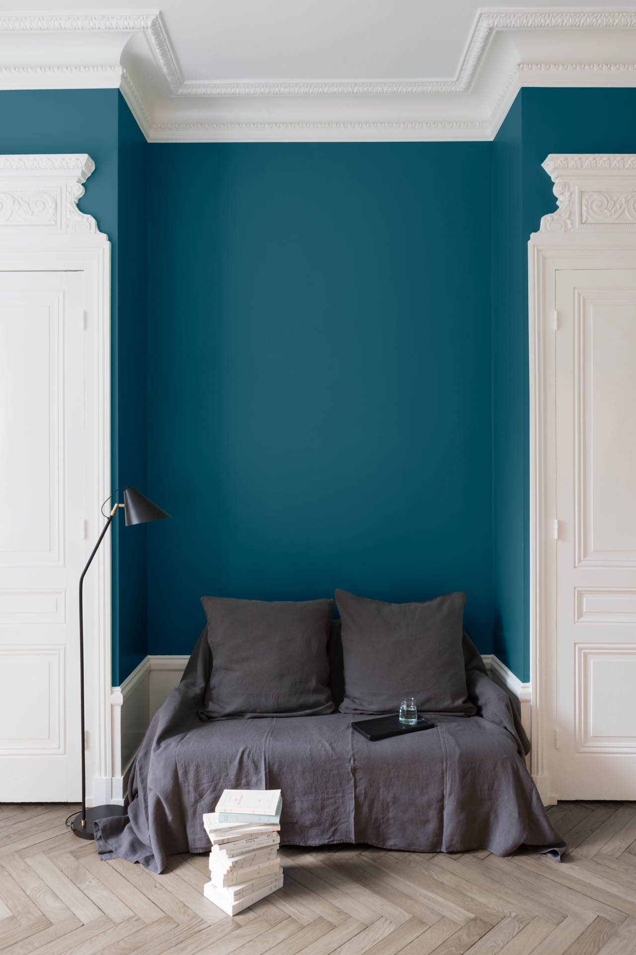 Peinture Bleu Paon Velours De Peinture Liberon